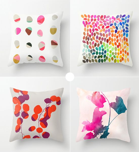 Painted throw pillows by Garima Dhawan   ♥