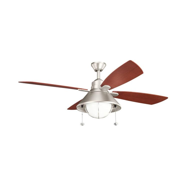 Off seaside energy star brushed nickel one light 54 inch ceiling fan by kichler