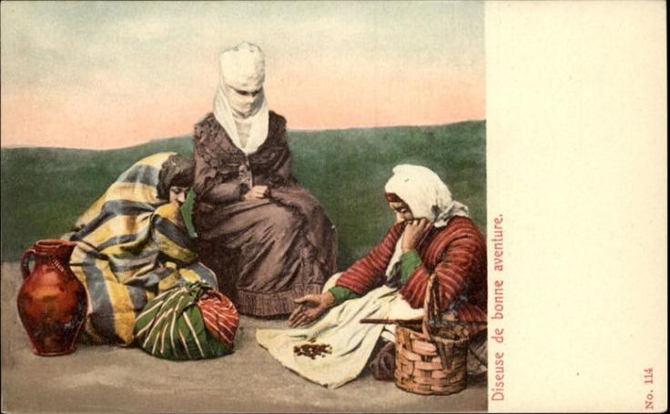 MIDDLE EAST Diseuse de bonne aventure Women Traditional Costumes c1910