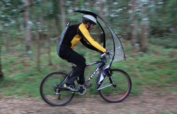 LEAFXPRO Bicycle Umbrella Leaves You Dry and Protected