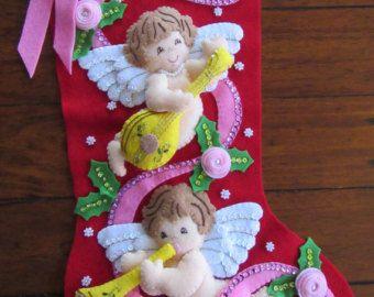 Querubines de Bucilla Navidad - terminados