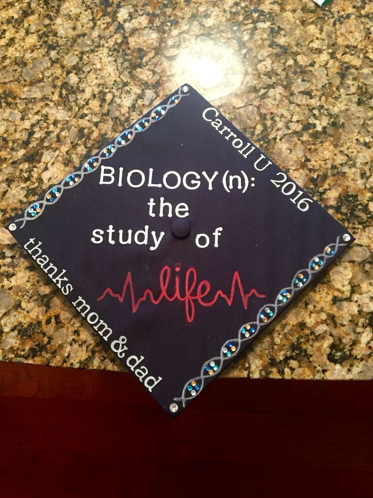 Biology graduation cap
