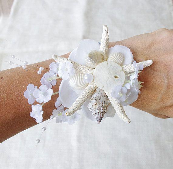 Playa de lápiz blanco estrellas de mar conchas y por Wedideas