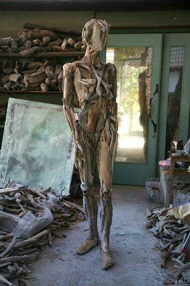 Amazing. ...this mummy is made of driftwood