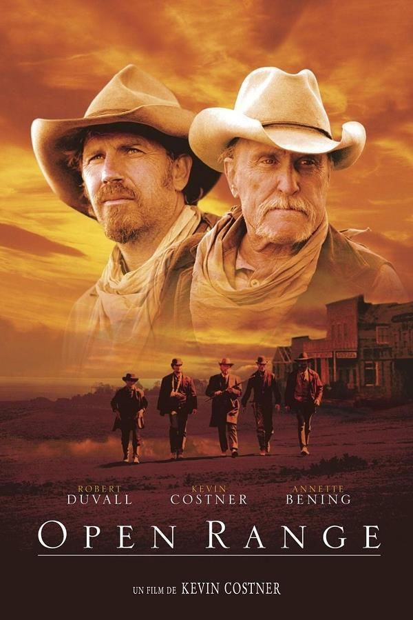 Open Range    Support: BluRay 1080    Directeurs: Kevin Costner    Année: 2003 - Genre: Western - Durée: 139 m.    Pays: United States of America - Langues: Français, Anglais    Acteurs: Kevin Costner, Robert Duvall, Michael Gambon, Michael Jeter, Diego Luna, James Russo, Abraham Benrubi, Kim Coates, Annette Bening, Dean McDermott, Herb Kohler, Peter MacNeill, Cliff Saunders, Patricia Stutz, Julian Richings