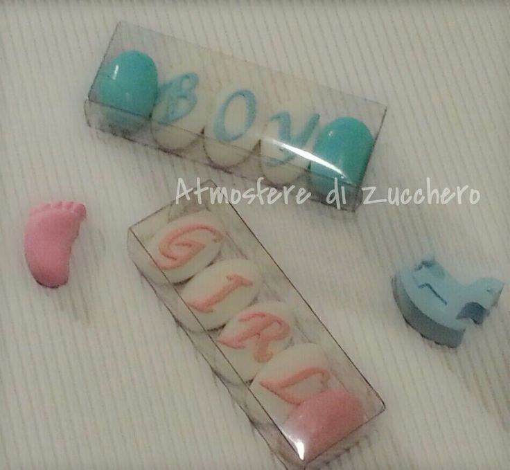 Confetti decorati .. boy or girl favor idea
