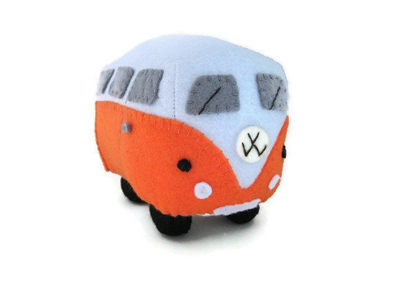 VW Campervan Plush Collectible ToyMade to Order by GracesFavours, £22.00
