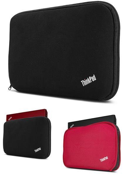 """ThinkPad 15"""" Fitted Reversible Sleeve - Ochranné puzdro navrhnuté pre notebooky ThinkPad s uhlopriečkou do 15"""". Ochraňuje voči prachu, poškriabaniu a nárazom. 2 puzdra v jednom! Puzdro je čiernej farby s červeným vnútrom, pričom sa dá otočiť, čím získate puzdro v červenej farbe. Maximálna veľkosť zariadenia:  385 mm x 265 mm x 25 mm, 15 """" notebooky s 3, 4 alebo 6 článkovou batériou."""