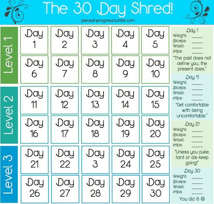 I love doing Jillian Michaels 30 day shred!