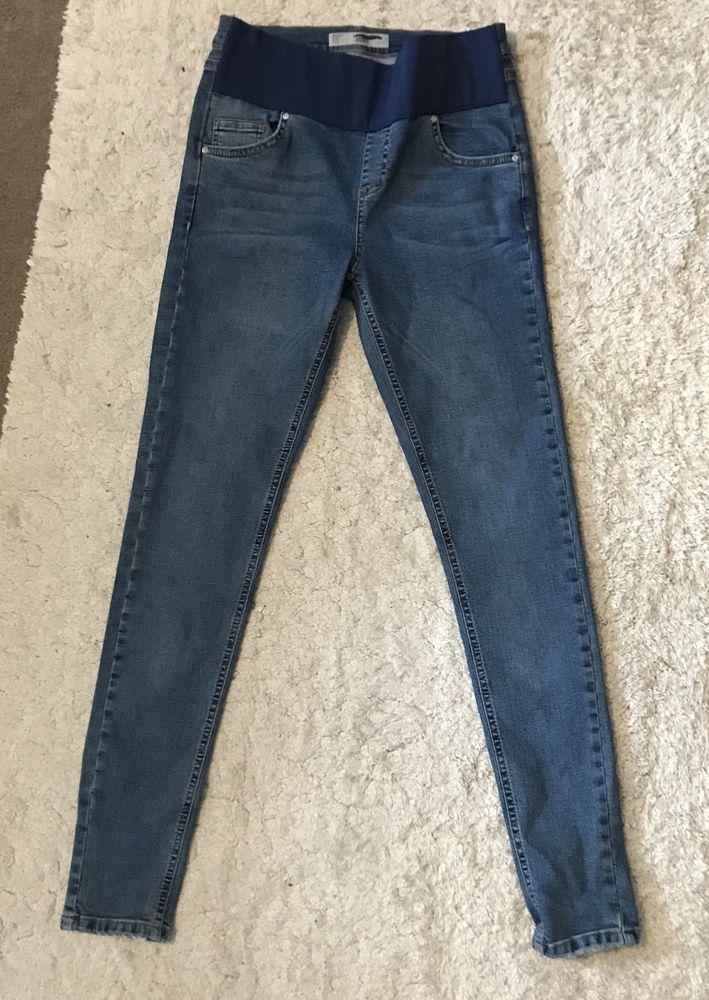 4f2605a178dde Topshop Women's Jamie Maternity Blue Under The Bump Skinny Jeans 8 L34 TALL  #fashion #