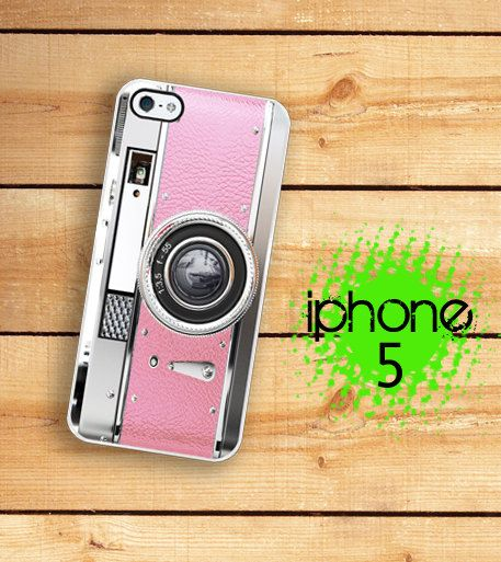 iPhone 5 / 5S Case Retro Kitschy Pink Camera  / Hard Case For iPhone 5 Pretty In Vintage Pink. Plastic or Rubber Trim on Etsy, $17.99