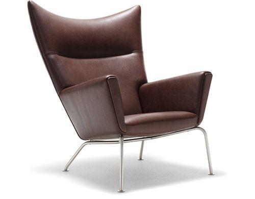 Design Hans Wegner, 1960  Solid beech frame, upholstery, metal legs  Made in Denmark by Carl Hansen & Son