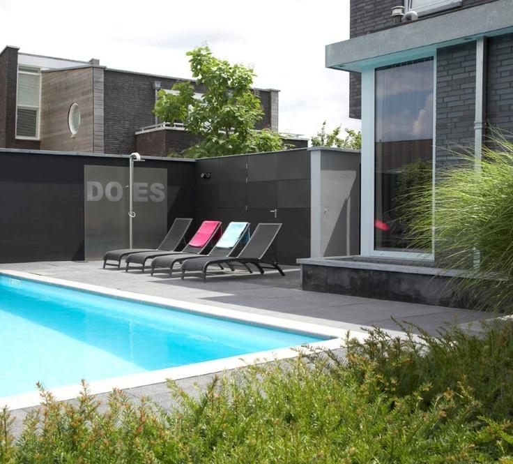 94 best zwembad images on pinterest - Deco tuin met zwembad ...