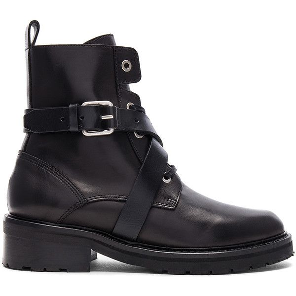 ALLSAINTS Fever Boot (1.130 BRL) ❤ liked on Polyvore featuring shoes, boots, allsaints, lace front boots, laced up shoes, mid heel boots and laced up boots