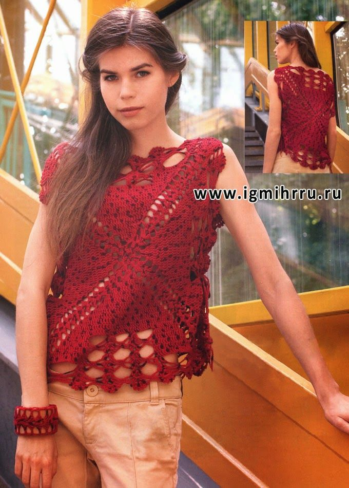 Crochet square top ♥️LCT-MRS♥️  with diagram.