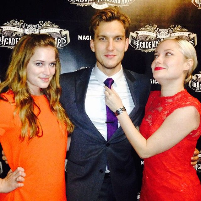 Elizabeth Lail, Scott Michael Foster, and Georgina Haig
