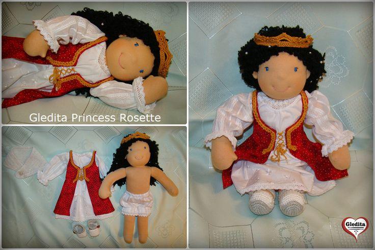 Gledita Princess Rosette  #gleditadoll #dollsinetsy Available in Etsy: https://www.etsy.com/listing/285974211/gledita-princess-rosette-waldorf-doll?ref=shop_home_active_1