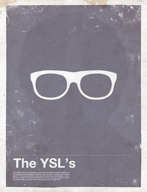 Miss Spectacles: Framework. Eyewear Made Famous  The YSL's  Yves Saint Laurent
