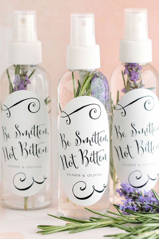 17 Non Food Wedding Favor Ideas That Your Guests Will Love Summer Wedding Favors Bug Spray Wedding Unique Wedding Favors