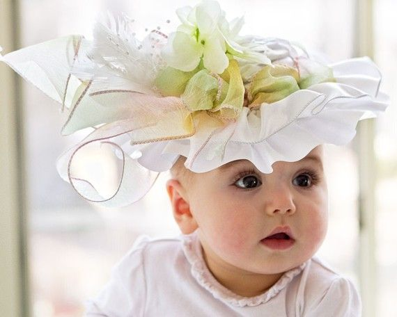 It's not a tea party without hats!: Teas Parties Hats, Party Hats, Pastel Spring, Flowers Girls, Tea Parties, Rainbows Pastel, Baby Hats, Easter Baby, Fancy Hats