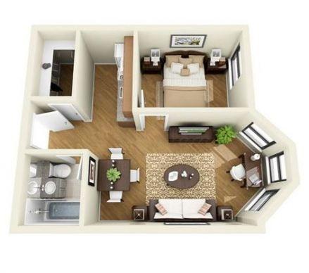 45+ Ideas Apartment House Architecture Floor Plans Beds
