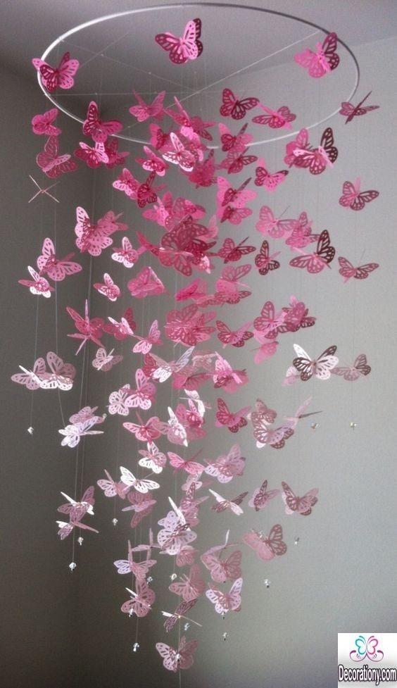 20 Fluffy Pink Chandelier For Teenage Girls Room
