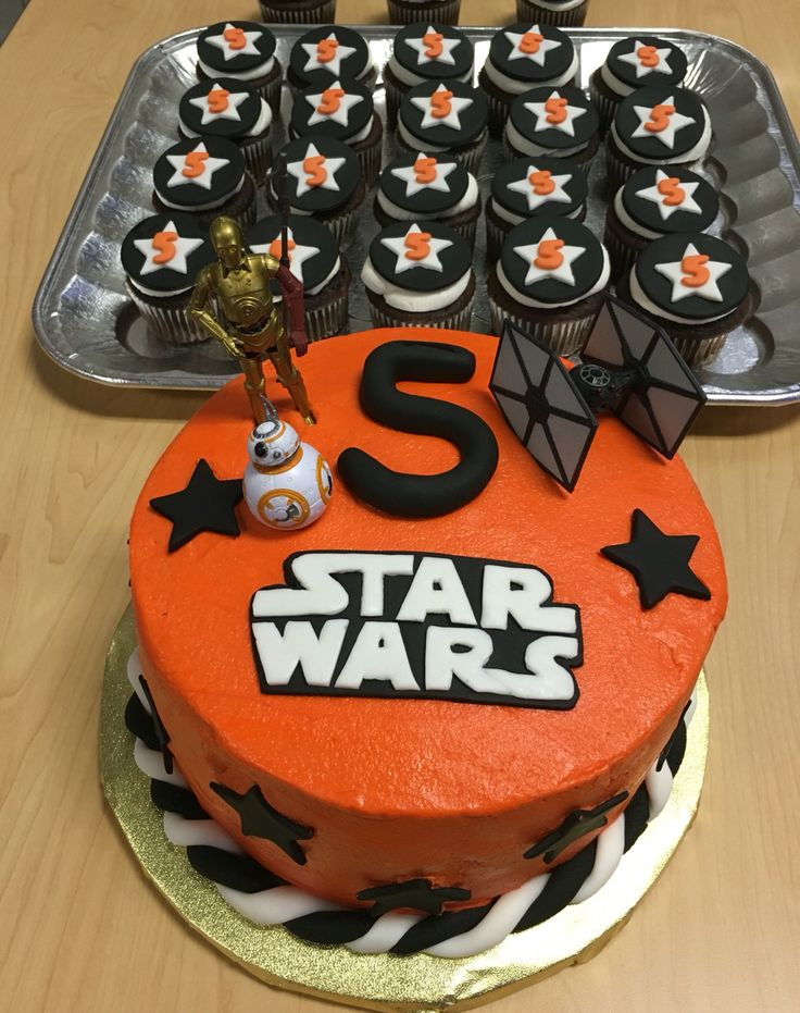 50 best images about the force awakens on pinterest star wars party star wars and chocolate - Star wars birthday cake decorations ...