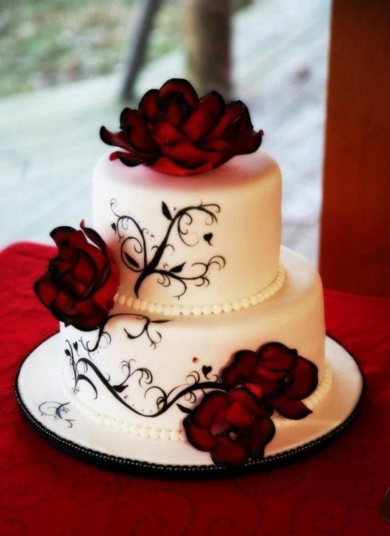 Top 19 Elegant Black Cake For Halloween Wedding – Easy Party Design Decor Project - DIY Craft (4)