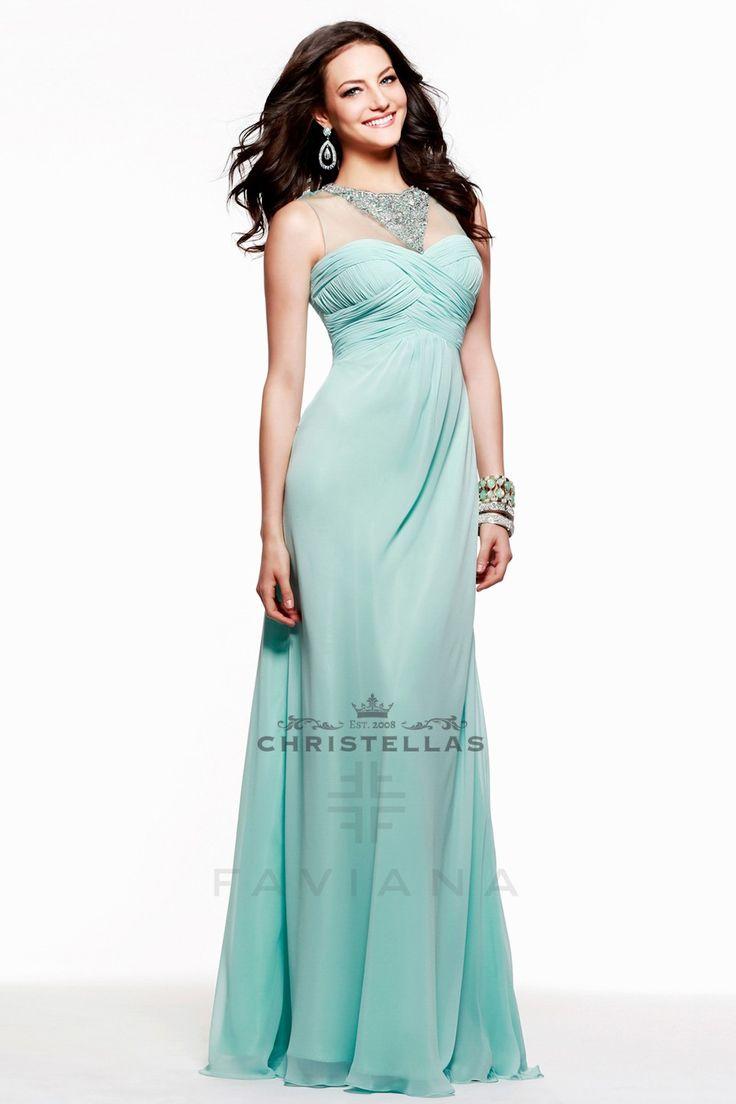 Crystal Illusion Bodice Evening Dress by Faviana 7521