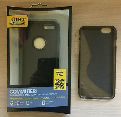 OtterBox-iPhone 6 Plus/S Case (Black) & Hard Rubber Brown Case-CASE'S ONLY Mobile Phones & Communication:Mobile Phone & PDA Accessories:Cases & Covers #forcharity