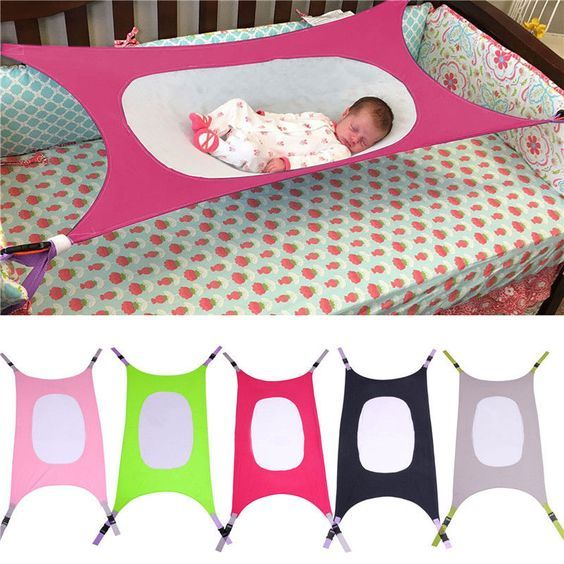 Portableborn Baby Hammock Infant Bed Elastic Detachable Baby Crib Safety