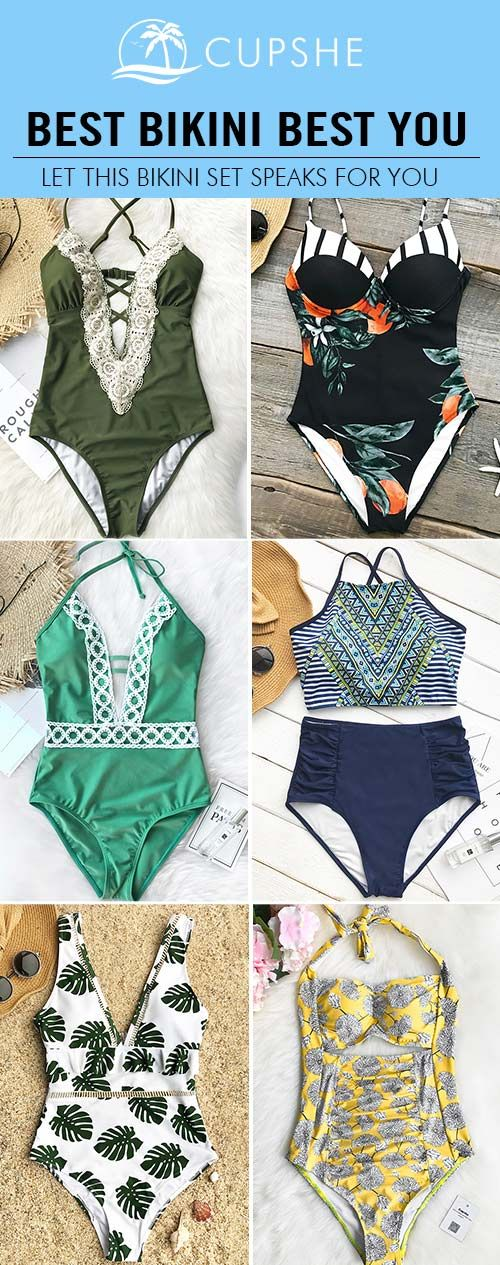 BEST BIKINI BEST YOU! Ready to be radiant with these star bikini items from Cupshe. High quality, trendy design and perfect fit. FREE shipping & Check now.
