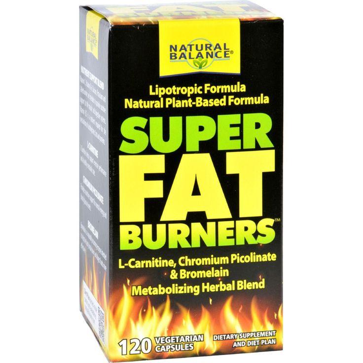 Natural Balance Super Fat Burners - 120 Vegetarian Capsules