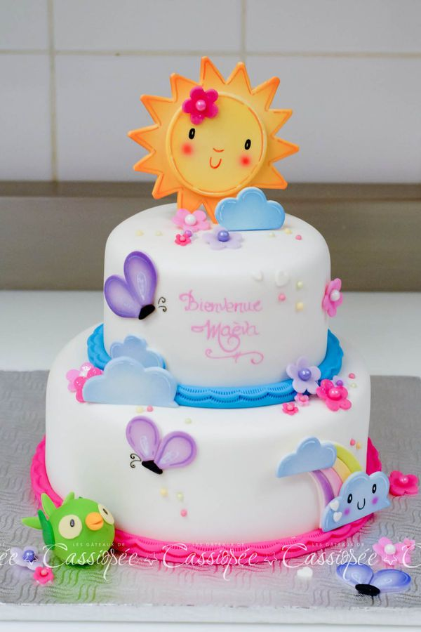 Shower cake inspired by the baby's room decor