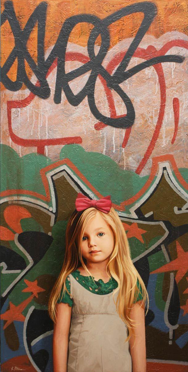"""Graffiti Girls"" series by American artist Kevin Peterson."