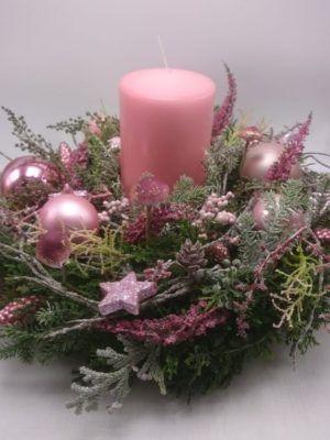 Weihnachtsgesteck Adventskranz Adventsgesteck Kerz…