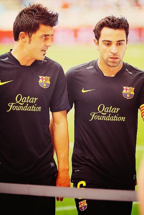 Football .. David Villa - Xavi Hernandez, FC Barcelona !