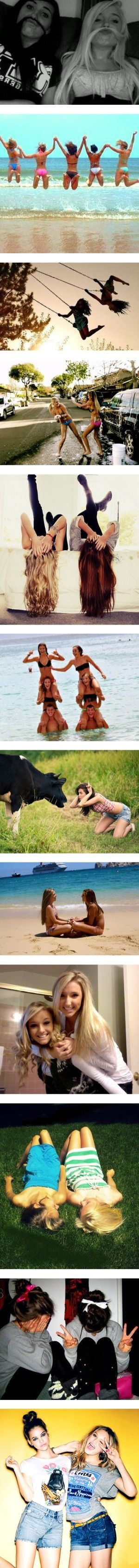 Cute bff poses.........except the cow one. Wtf is that? Who put it in this post? Are we to assume your bff is a cow? Or that you don`t have any friends? This makes no sense and no one is seeing it. It is just weird and kinda creepy!!