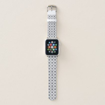 Prism Pattern Black and White Apple Watch Band - minimal gifts style template diy unique personalize design