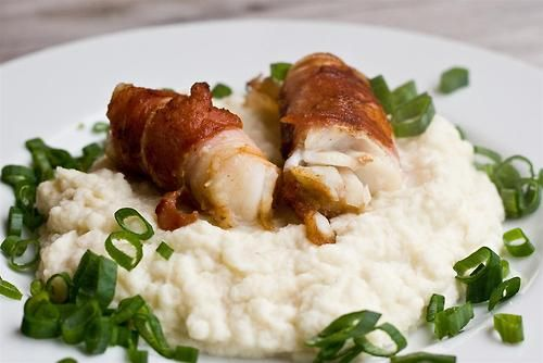 Bacon Wrapped Cod with Cauliflower Puree | Dinner Recipes ...