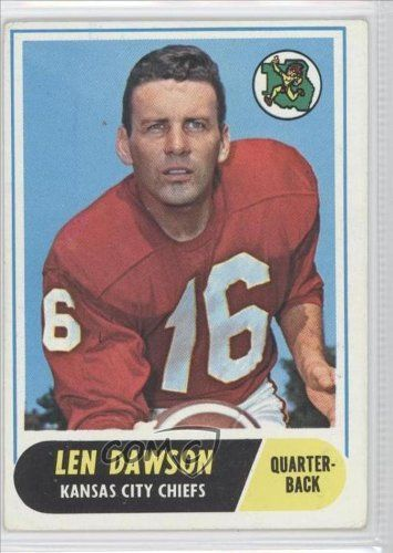 Len Dawson COMC REVIEWED Good to VG-EX #/6,199 Kansas City Chiefs (Football Card) 1968 Topps #171 by Topps. $12.00. 1968 Topps #171 - Len Dawson COMC REVIEWED Good to VG-EX