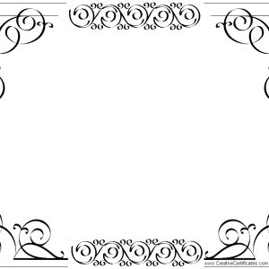 elgegant border for certificate template a part of under