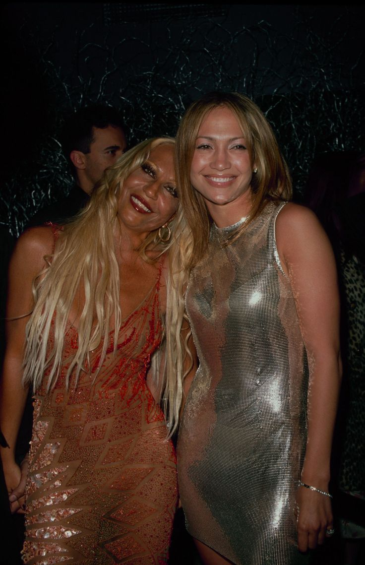 Donatella Versace with Jennifer Lopez