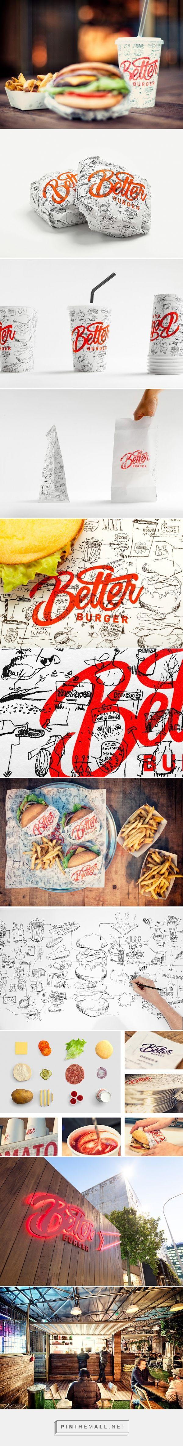Better #Burger #fastfood #packaging designed by 485 Design - http://www.packagingoftheworld.com/2015/06/better-burger.html