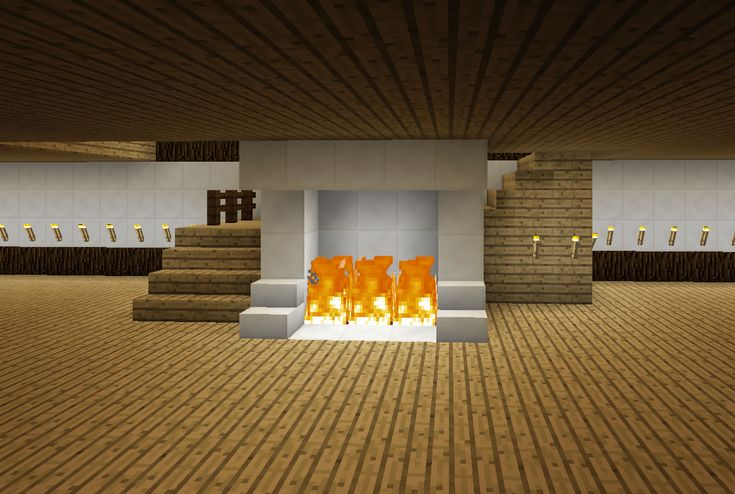 Minecraft Staircase and Fireplace Wrap Around Stairs
