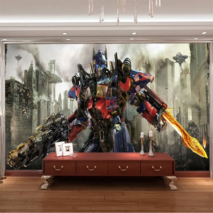 transformers photo wallpaper 3d optimus prime wall mural little boy room decoration ideas photograph wall mural ins