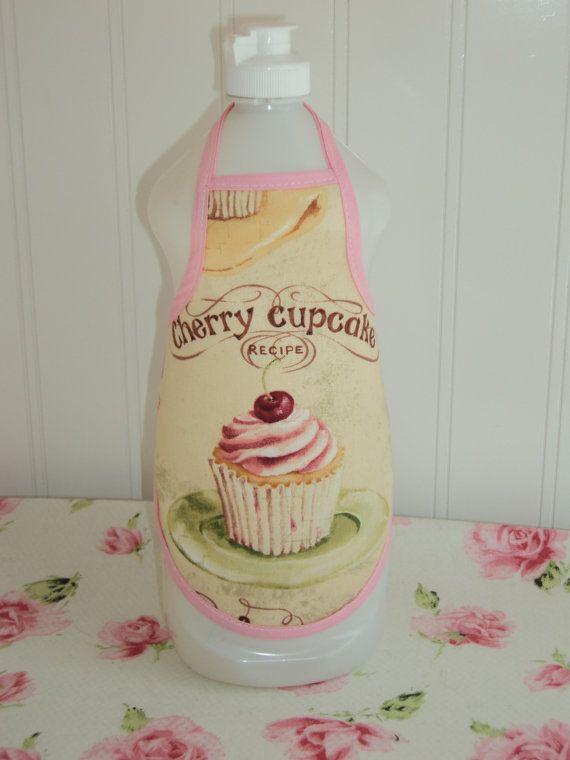 Cherry Cupcake Dish Soap Bottle Apron by LoveVanillaRose on Etsy, $5.00