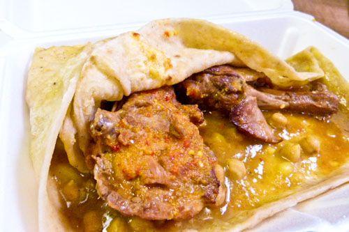 Trinidadian Roti- even better when eaten in Trinidad