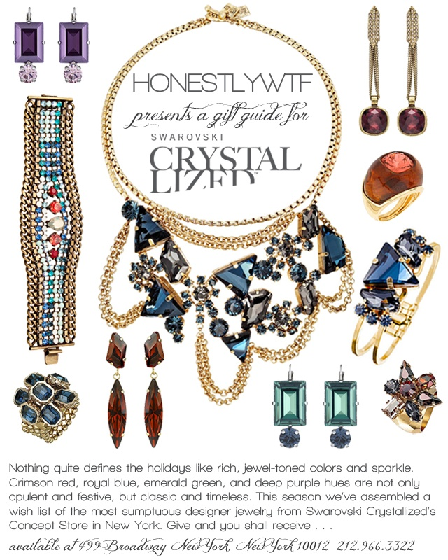 HWTF presents a jewel-toned gift guide for @swarovski_cryst & @NYMag!