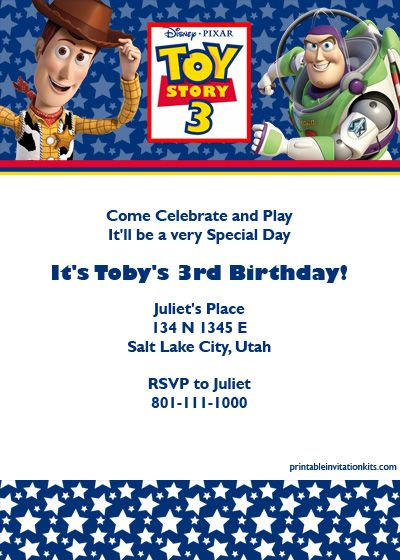 170 best images about free printable birthday party for Toy story invites templates free